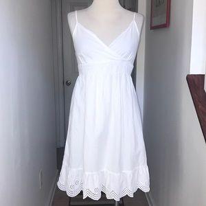 Converse Simple White Dress Eyelet bottomSz S😘